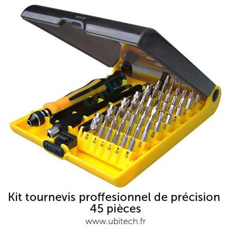 Kit tournevis proffesionnel de précision 45 pièces