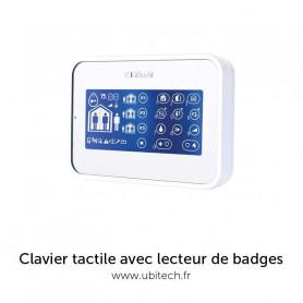 Clavier tactile blanc avec lecteur de badges VISONIC MKP-160