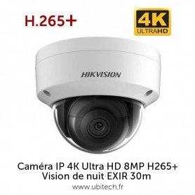 Caméra IP 4K HIKVISION DS-2CD2185FWD-I ULTRA HD H265+ 8MP PoE