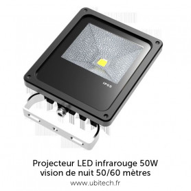 Projecteur LED InfraRouge 50/60 mètres