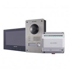 Kit interphone vidéo couleur 2 fils Hikvision DS-KIS701