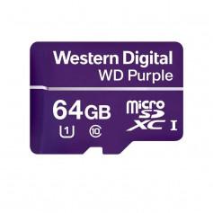 Carte MicroSD Western Digital Purple 64GB spéciale vidéosurveillance
