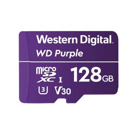 Carte SD Western Digita Purple 128Go spéciale vidéosurveillance
