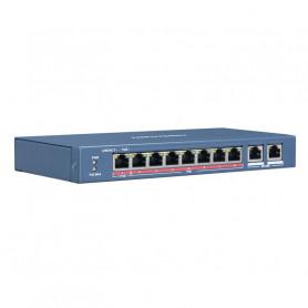 Hikvision DS-3E0310HP-E switch PoE longue distance 250 mètres 10 ports dont 8 ports PoE
