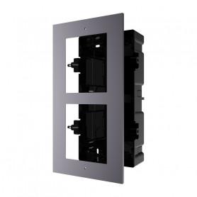 Boîtier de montage encastré 2 emplacement Hikvision DS-KD-ACF2 pour interphone vidéo