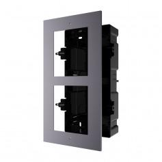 Boîtier de montage encastré 2 emplacements Hikvision DS-KD-ACF2 pour interphone vidéo