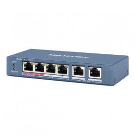 Hikvision DS-3E0106HP-E switch 6 ports dont 4 ports PoE longue distance 300 mètres