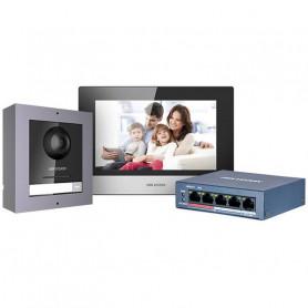Kit interphone vidéo couleur IP Hikvision DS-KIS602
