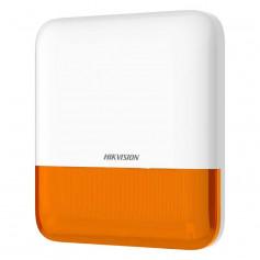 Hikvision DS-PS1-E-WE sirène extérieure sans fil orange 110 décibels