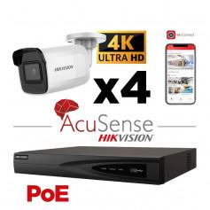 Kit vidéosurveillance AcuSense 4 caméras 4K H265+ vision de nuit 40 mètres