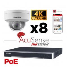 Kit vidéosurveillance AcuSense 8 caméras 4K H265+ vision de nuit 30 mètres