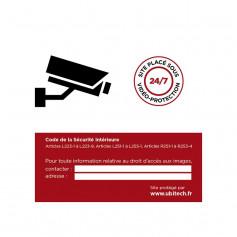 Sticker autocollant vidéosurveillance pour boîte aux lettres format A7