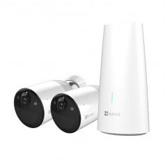 Kit caméra de surveillance 2 caméras WiFi sur batterie full HD H265 avec vision de nuit en couleur EZVIZ BC1-B2