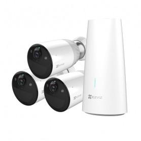 Kit caméra de surveillance WiFi 3 caméras sur batterie full HD H265 avec vision de nuit en couleur EZVIZ BC1-B3