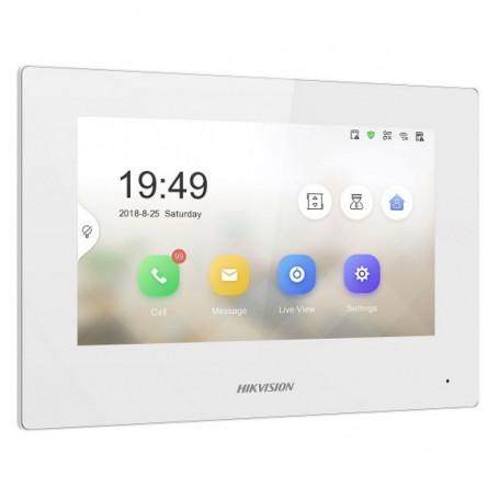 Écran de contrôle tactile WI-FI blanc Hikvision DS-KH6320-WTE1-W pour interphone vidéo IP Hikvision DS-KD-XX