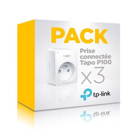 Pack de 3 prises connectées Wi-Fi TP-link Tapo P100 compatibles assitants Google et Amazon