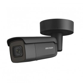 Caméra varifocale motorisée noire AcuSense 2.0 4K H265+ Hikvision DS-2CD2686G2-IZS powered by darkfighter IR 60 mètres