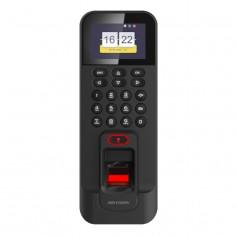 Terminal de contrôle d'accès par empreinte digitale + badge RFID Hikvision DS-K1T804BMF