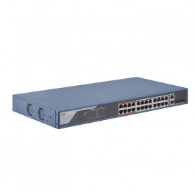 Hikvision DS-3E1326P-EI switch manageable PoE+ longue distance 300 mètres 26 ports dont 24 ports PoE +