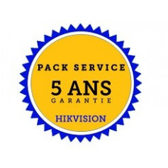 HIKVISION garantie étendue 5 ans par échange standard en 24h pour caméra IP