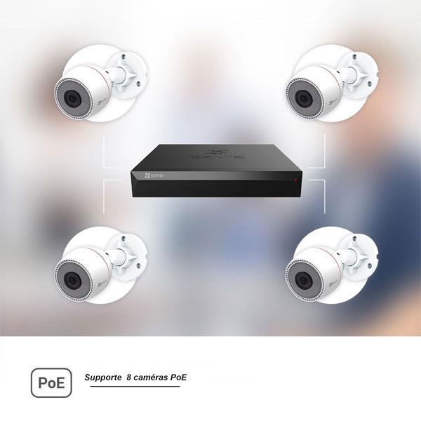 8 caméras PoE
