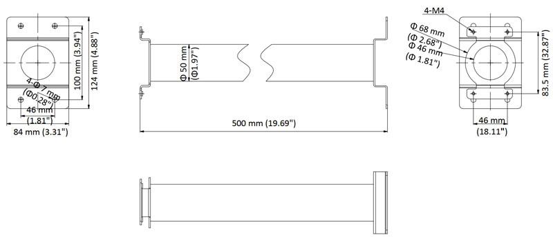 Hikvision DS-1691ZJ-M fixation suspendue pour plafond