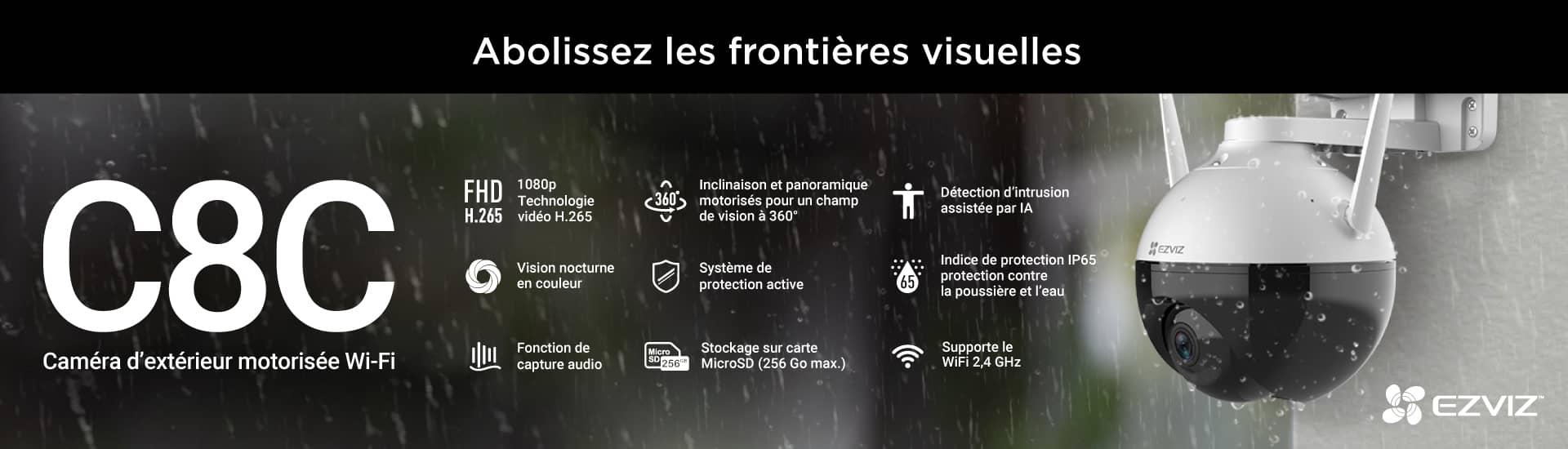 C8C Ezviz - Caméra d'extérieur motorisée Wi-Fi
