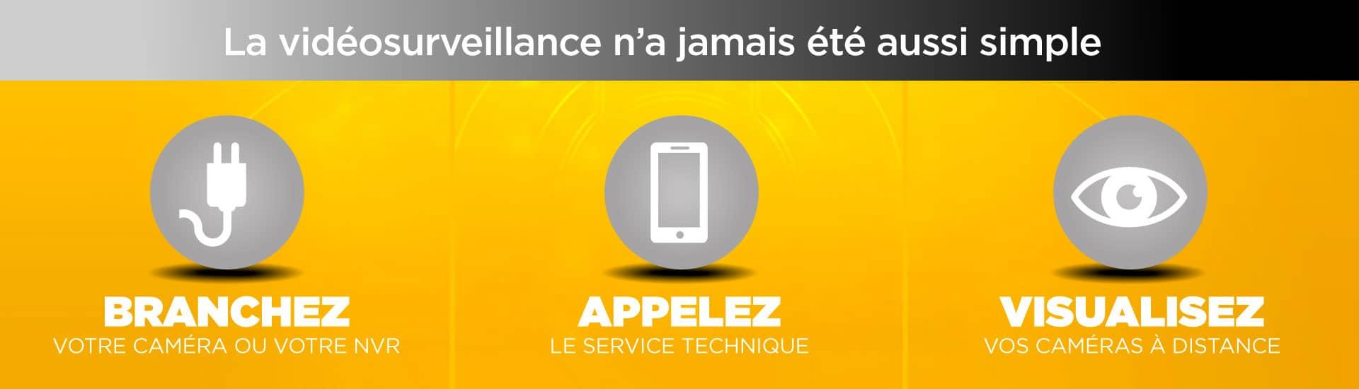 Caméras de surveillance connectées sur smartphone iPhone et Android